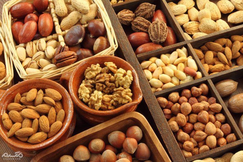 آجیل و دانههای مغذی