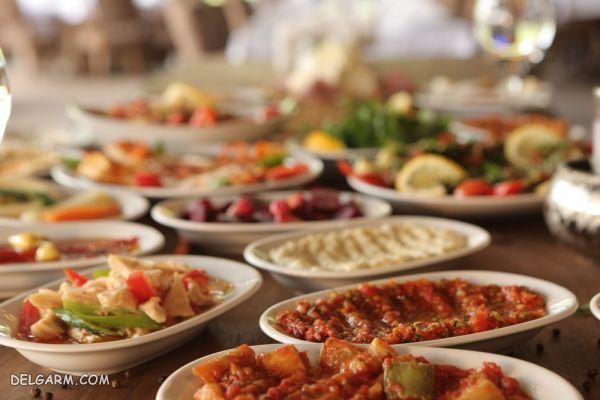 انواع پیش غذاها ترکیه یا مزه   Meze غذای استانبول
