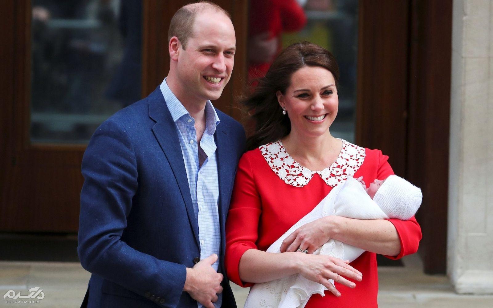 تصاویر و حواشی تولد فرزند سوم پرنس ویلیام و همسرش کیت میدلتون (نوه سوم ملکه انگلستان)