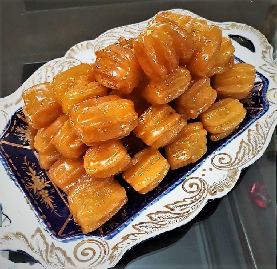 بامیه ماه رمضان - طرز تهیه شیرینی بامیه خانگی عالی