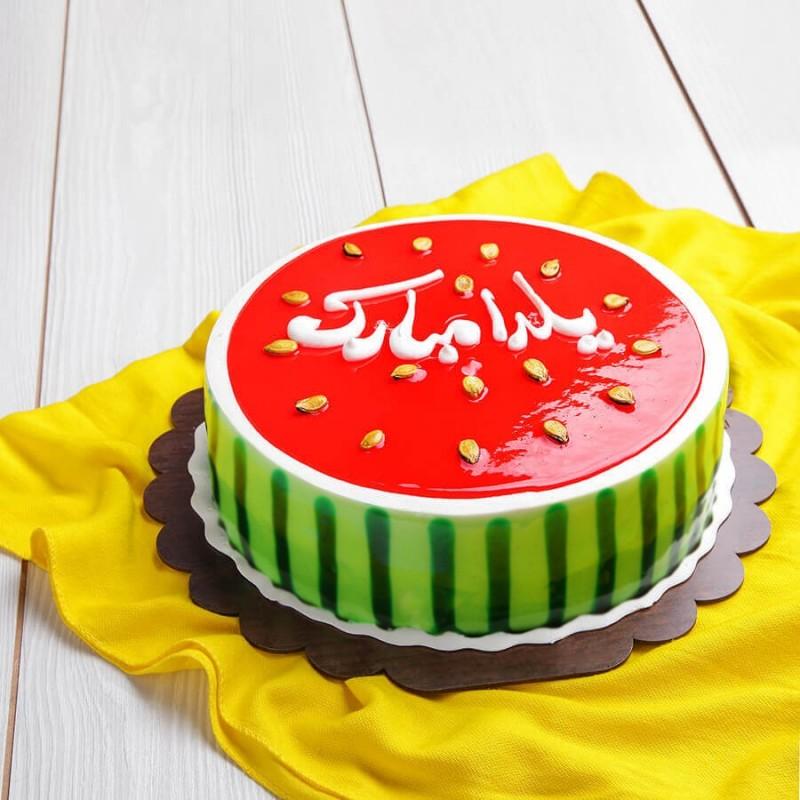 تزیین کیک شب یلدا