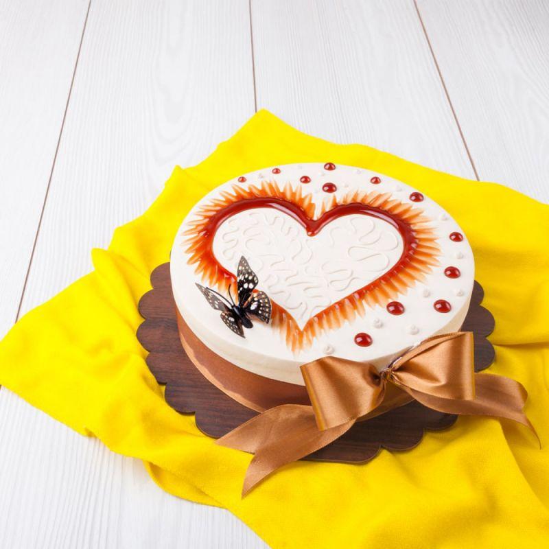 مدل کیک تولد عاشقانه
