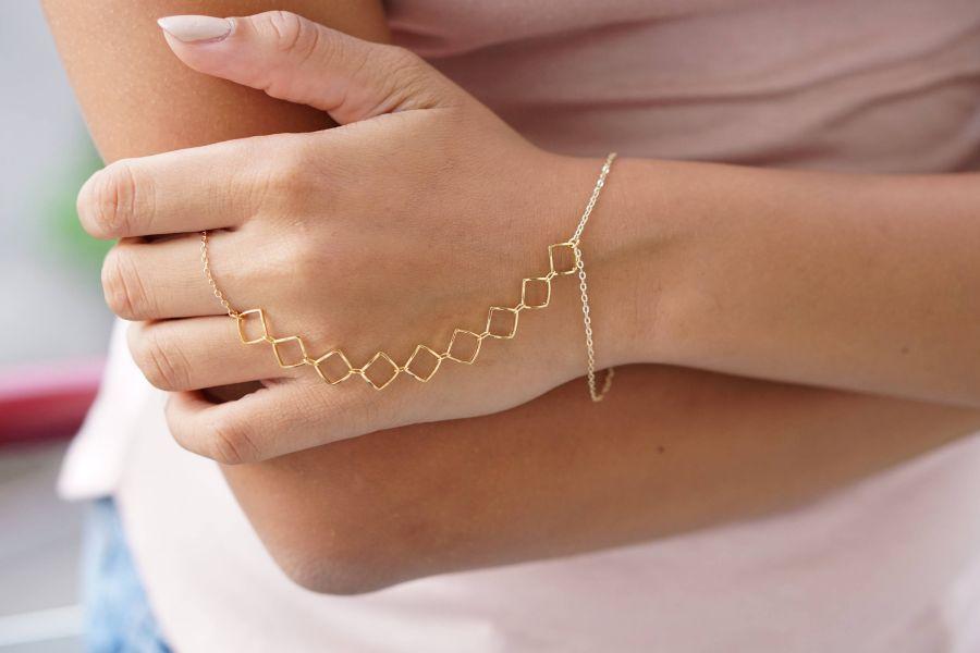 تمیمه : مدل های جدید تمیمه (دستبند انگشتری) عروس مخصوص خانم های شیک پسند