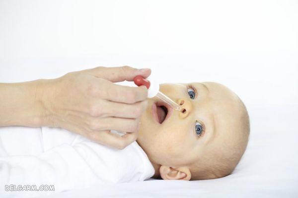 تمیز کردن بینی نوزاد