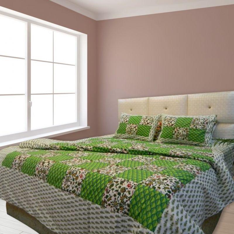 عکس از روتختی شیک دو نفره رنگ سبز و فسفری