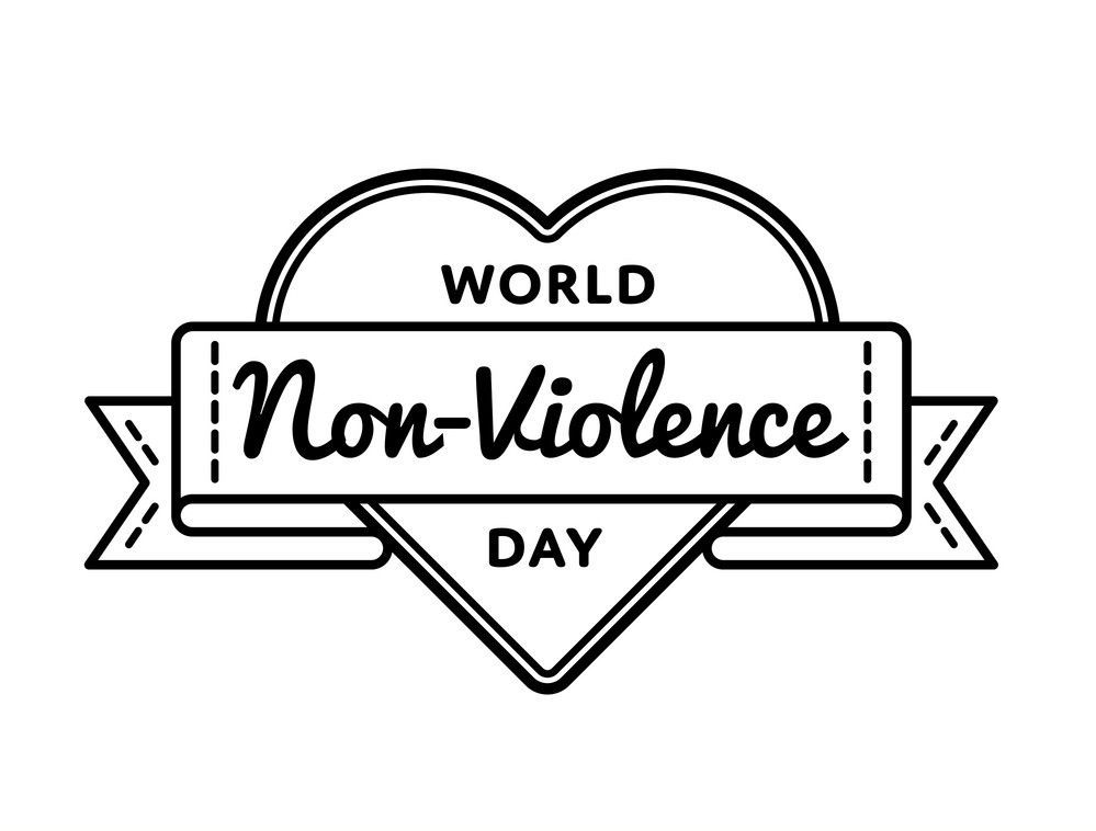 ۲ اکتبر(۱۰مهرماه) روز تولد گاندی مصادف با روز جهانی بدون خشونت