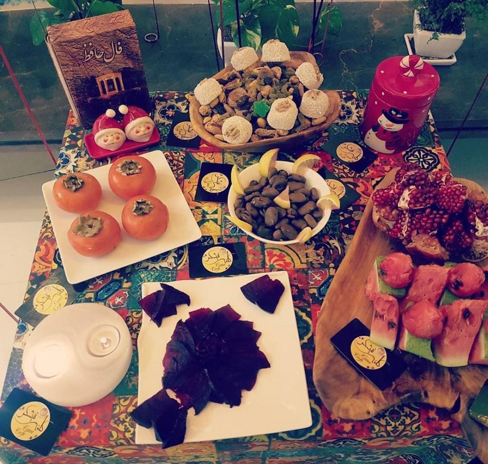 تصاویر جدید و با کیفیت تزئین سبد میوه و سفره شب یلدا ۹۷