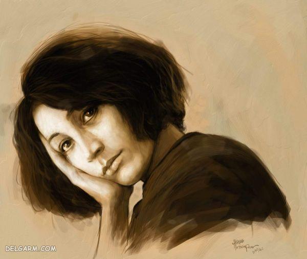 فروغ فرخزاد شاعر و هنرمند معروف