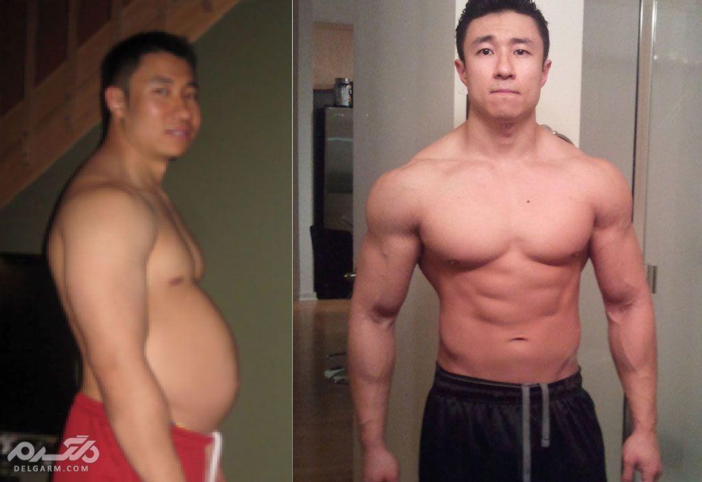 سیکس پک قبل و بعد