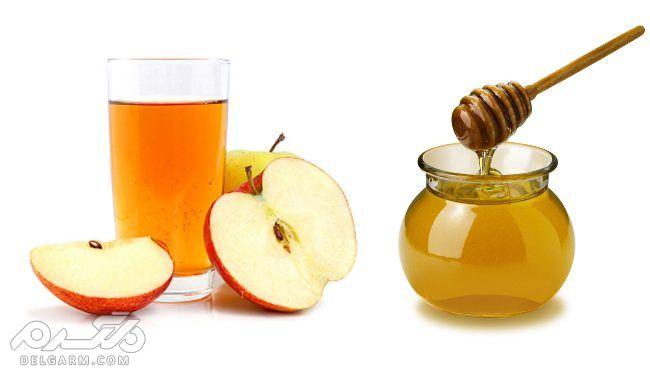 سرکه سیب وعسل برای شکم صاف