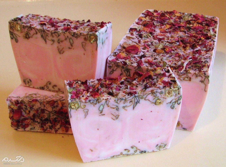 صابون گل رز طبیعی