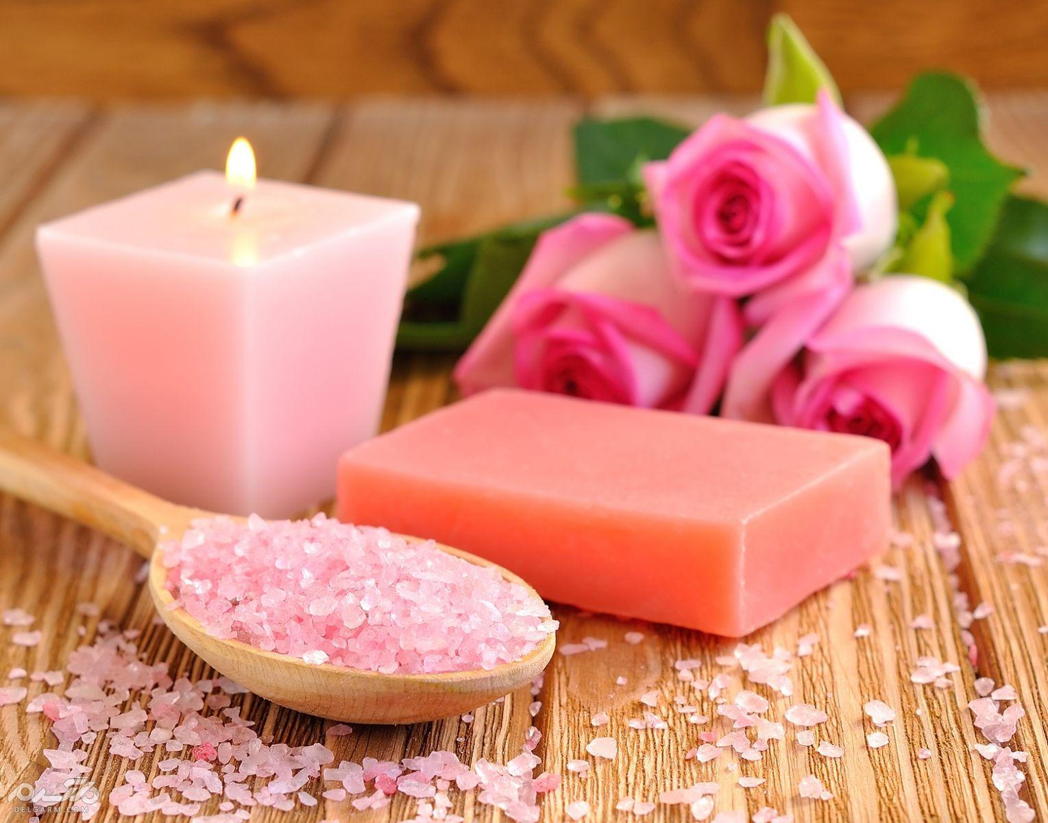 صابون گل رز برای درمان آکنه و کنترل چربی پوست
