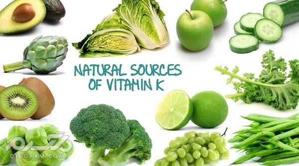 مواد غذایی غنی از وتامین k