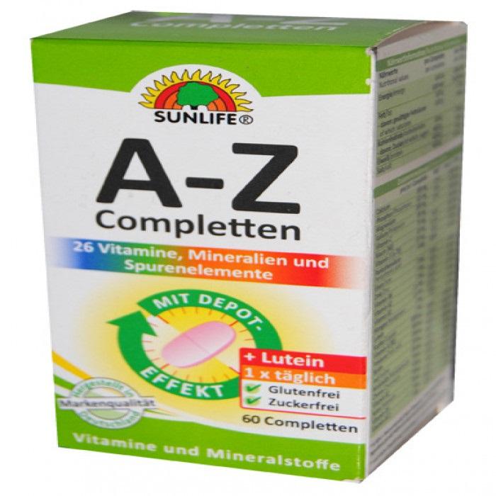 فواید بی نظیر مصرف مکمل A-Z + لوتئین برای سلامت بدن