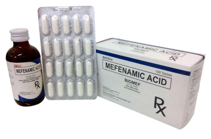 همه چیز در مورد موارد مصرف و عوارض مفنامیک اسید