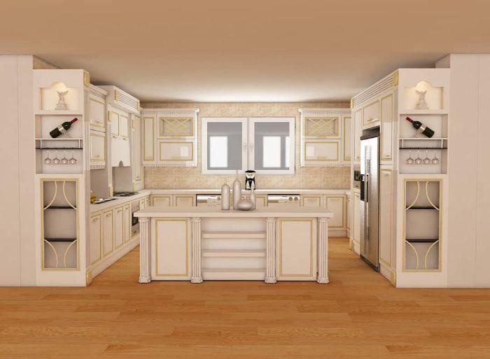 مدل کابینت آشپزخانه جدید mdf بسیار زیبا و لاکچری (3)