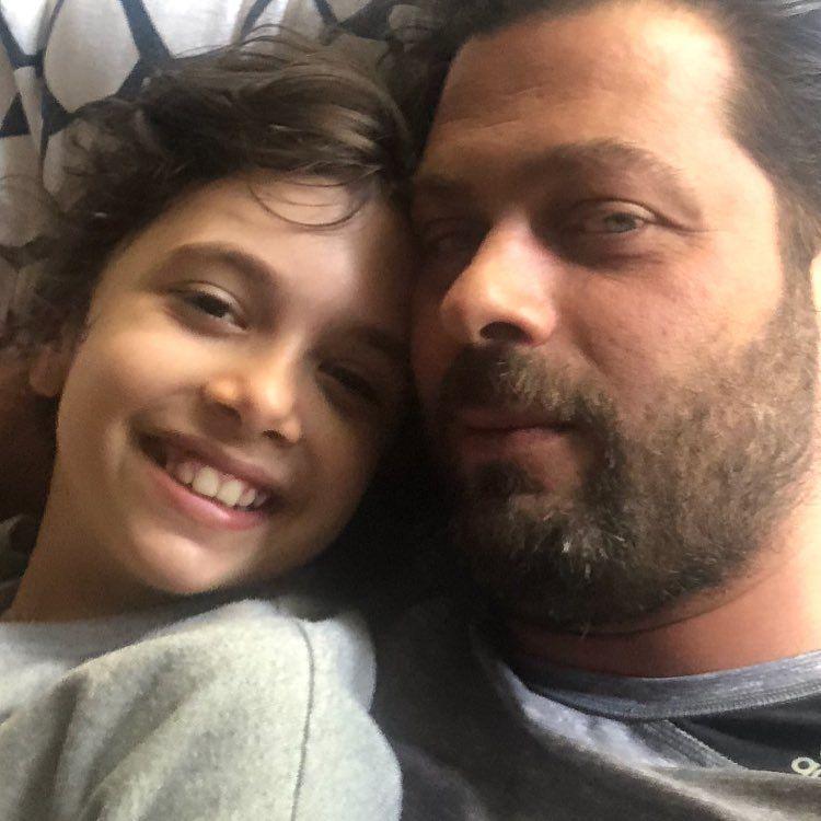 پژمان بازغی در جشن تولد ۱۰ سالگی دخترش نفس