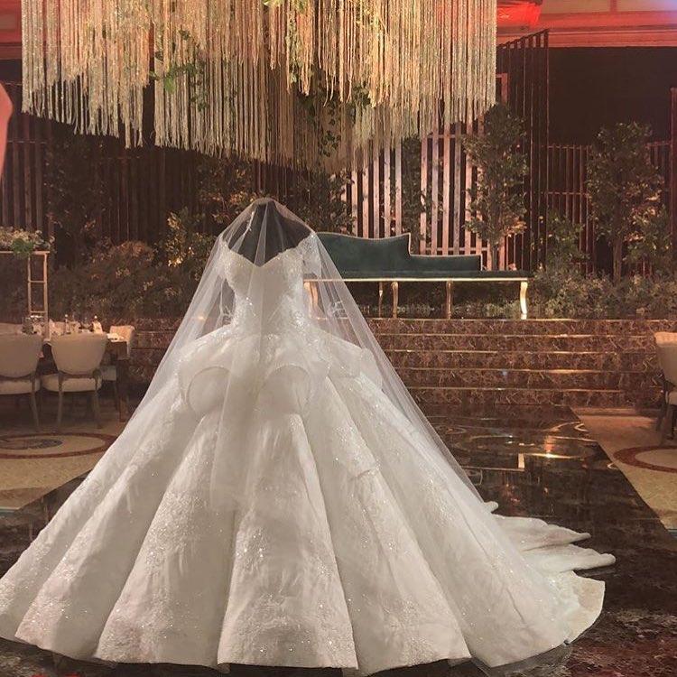 مدل لباس عروس ۲۰۱۹ آستین دار، پوشیده ، ترک تماشایی