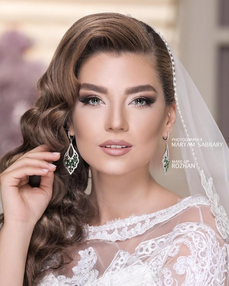 جدیدترین مدل آرایش عروس ۲۰۱۹ به همراه میکاپ عروس ۹۸