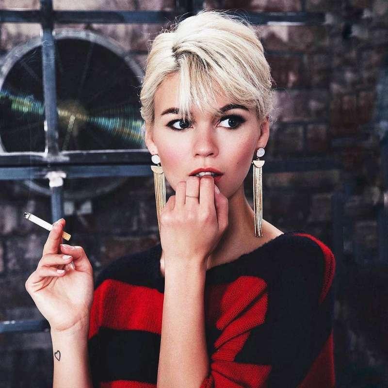 عکس مدل مو کوتاه دخترانه ۲۰۱۹ لاکچری و خاص با رنگ مو فانتزی