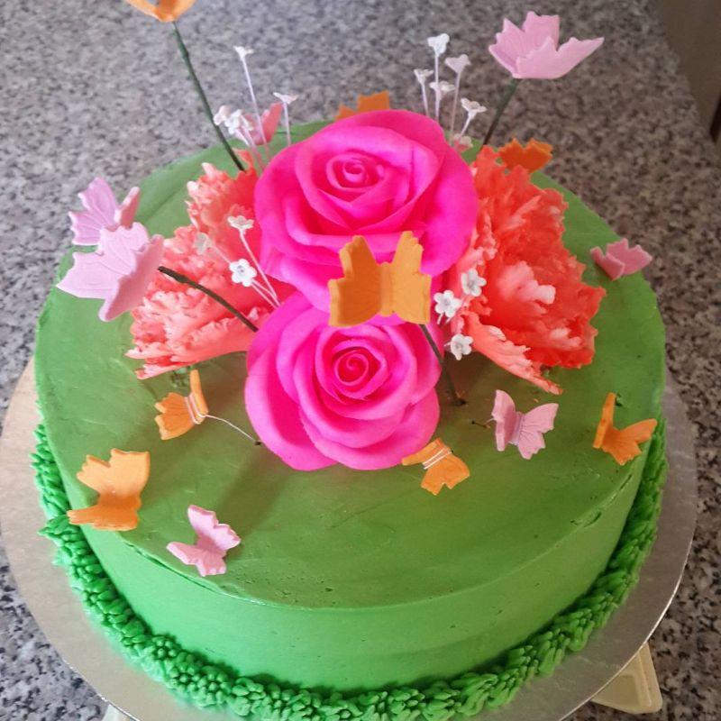 کیک تولد دخترانه خاص ۹۸ | تزیین کیک تولد با طراحی زیبا