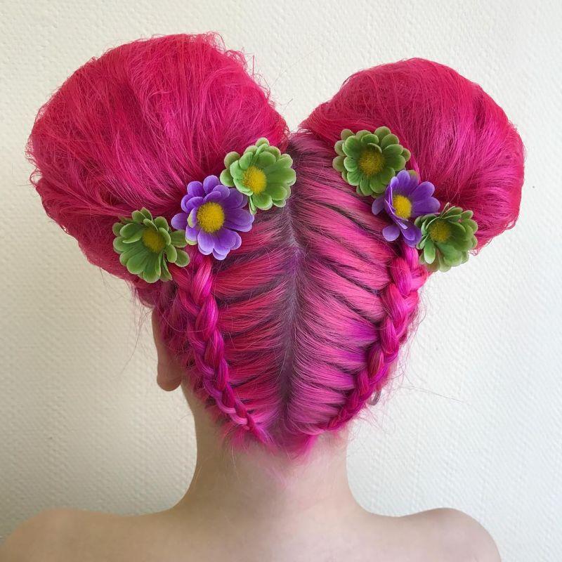 رنگ موی فانتزی دخترانه ۲۰۱۹ در انواع طرح های جذاب و دوست داشتنی
