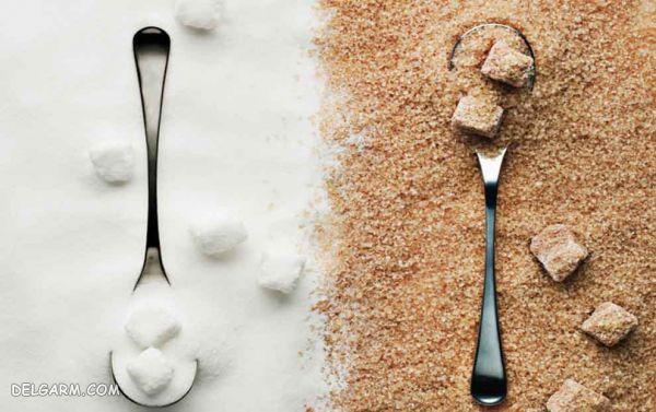 تفاوت شکر قهوه ای و شکر سفید