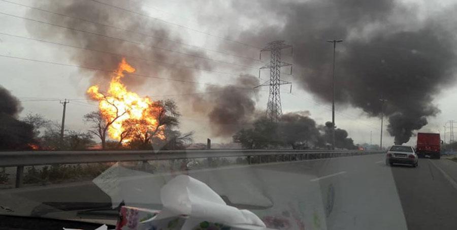 آخرین خبرها از انفجار لولههای گاز در آزادراه اهواز به ماهشهر