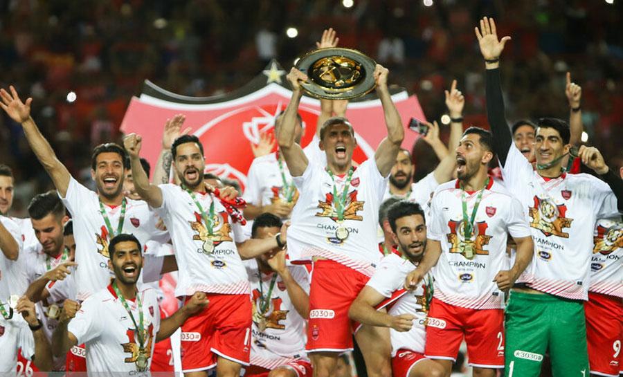 جشن قهرمانی پرسپولیس در جام حذفی + تصاویر