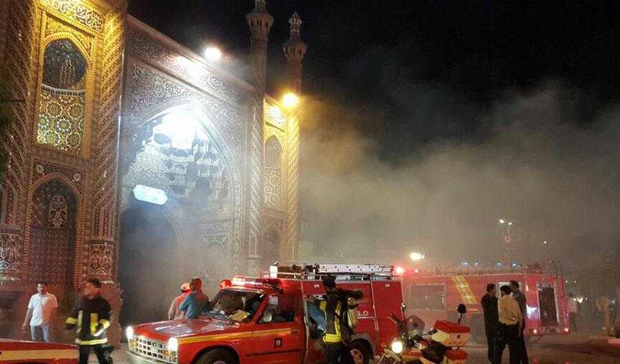 آتش سوزی در حرم حضرت معصومه + فیلم