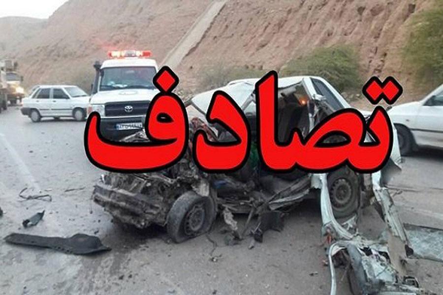 سانحه دردناک تصادف در بزرگراه شیراز - خرامه + فیلم