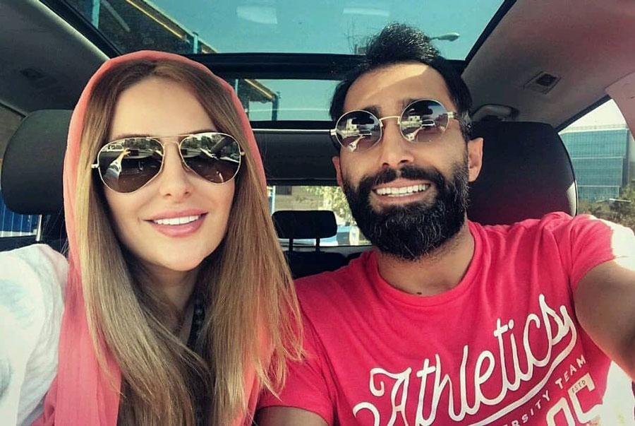 عاشقانه هادی کاظمی برای همسرش سمانه پاکدل