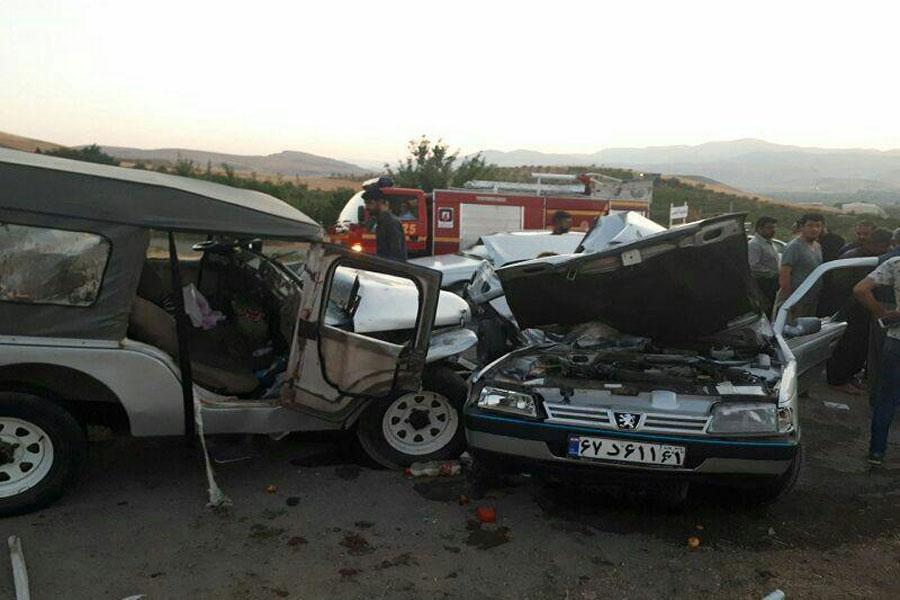 دو کشته و نه زخمی در حادثه رانندگی در مهاباد