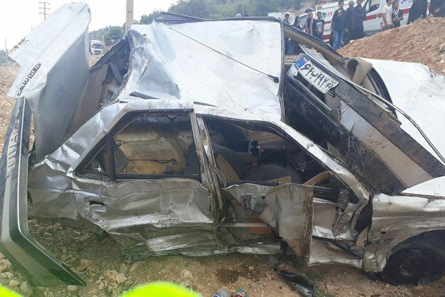 تصادف خونین در جاده یاسوج اصفهان یک کشته و ۸ مصدوم برجا گذاشت