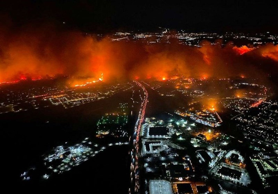آتش سوزی لس آنجلس