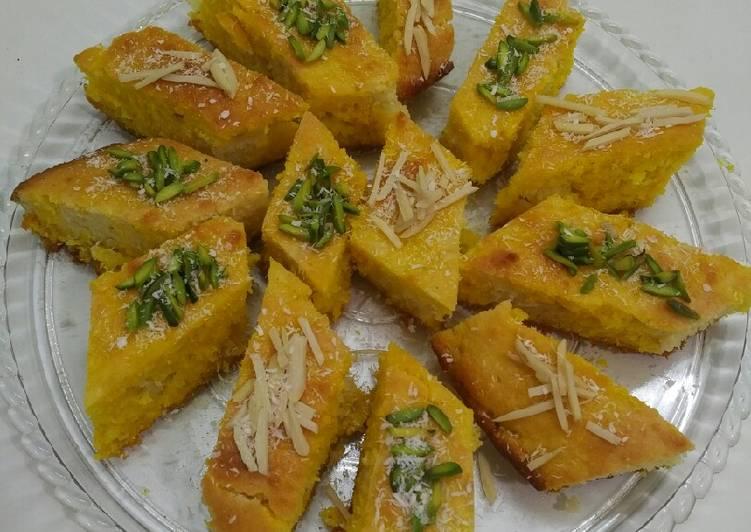 آشنایی با روش تهیه کیک نارگیلی باقلوا