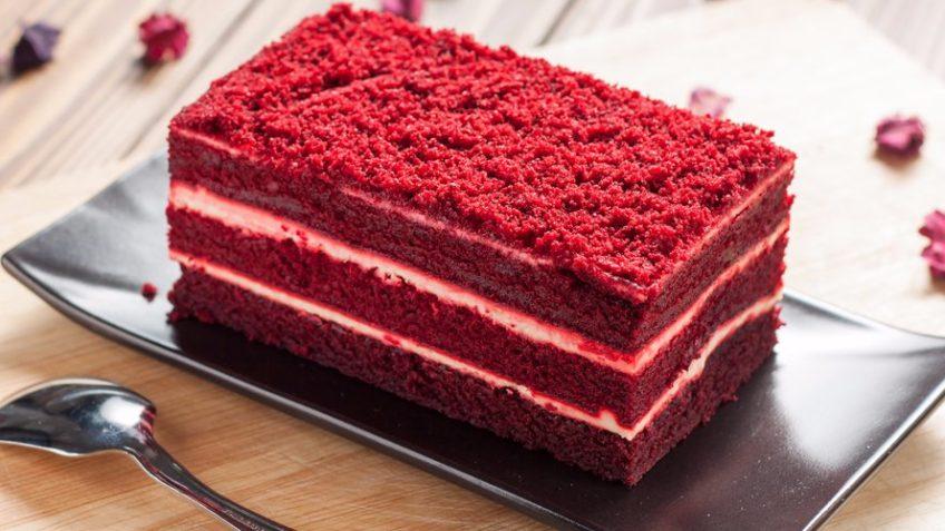 طرز تهیه کیک مخملی قرمز یا ردولوت