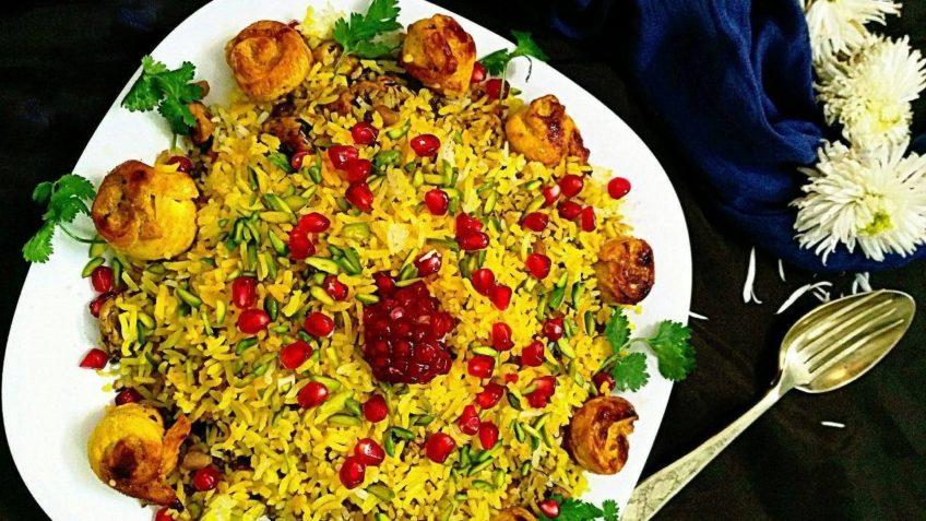 """طرز تهیه """"انار پلو"""" شیرازی با نکات سفارشی انارپلوی خوشمزه"""
