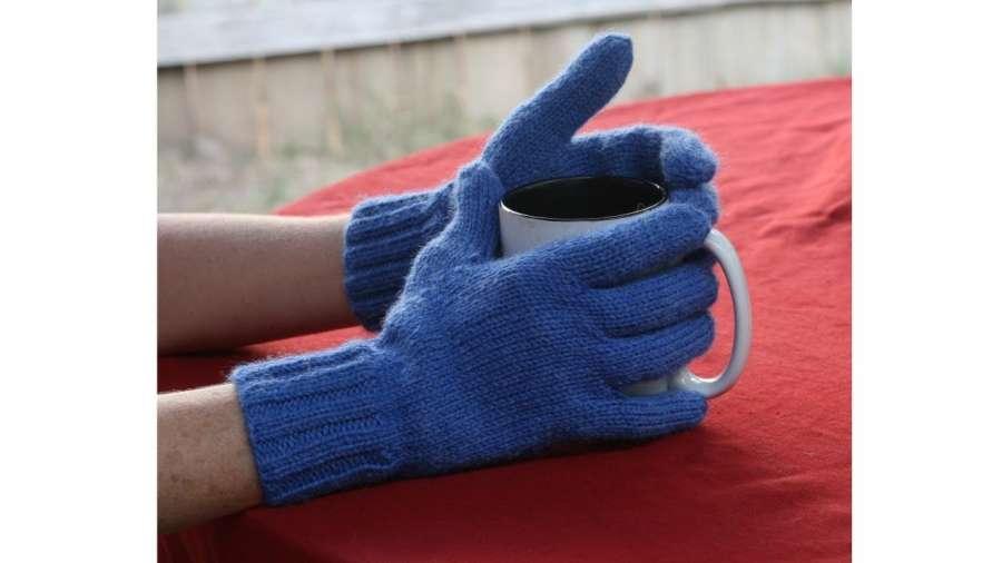 آموزش بافتنی با دو میل برای بافتن دستکش