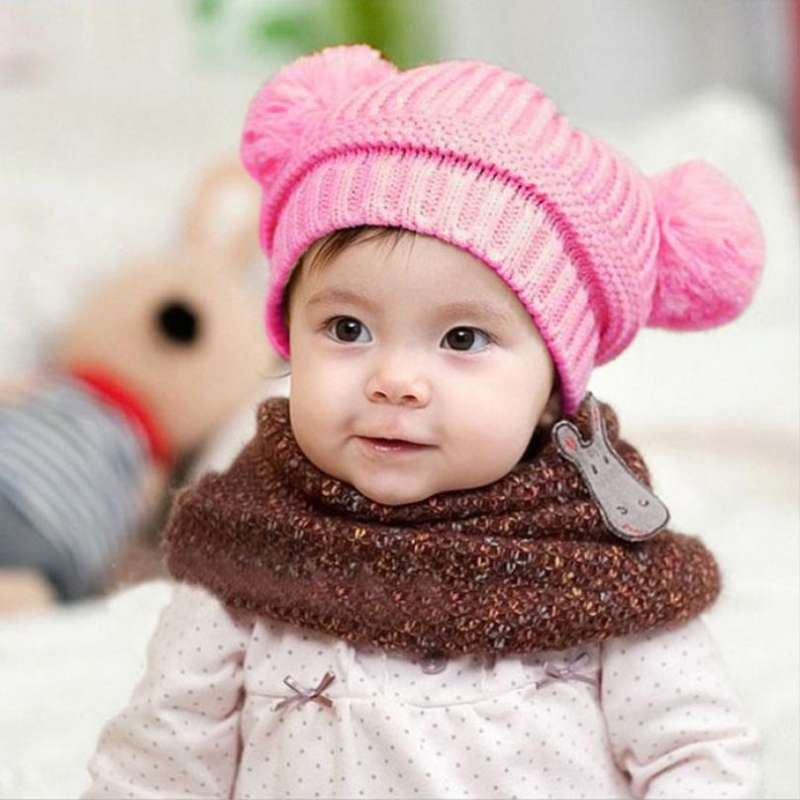 آموزش بافت شال و کلاه دخترانه