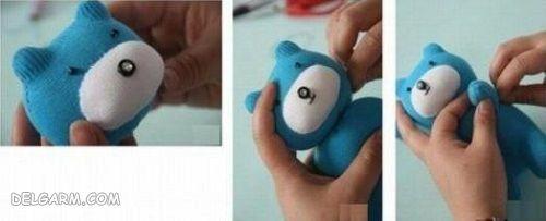 آموزش تهیه عروسک خرسی در خانه فقط با یک لنگه جوراب