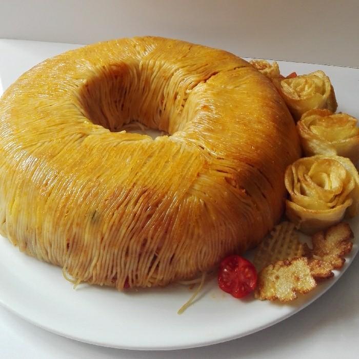 ۱۶ مرحله برای تهیه کیک ماکارونی سالم و مقوی برای تمام سنین