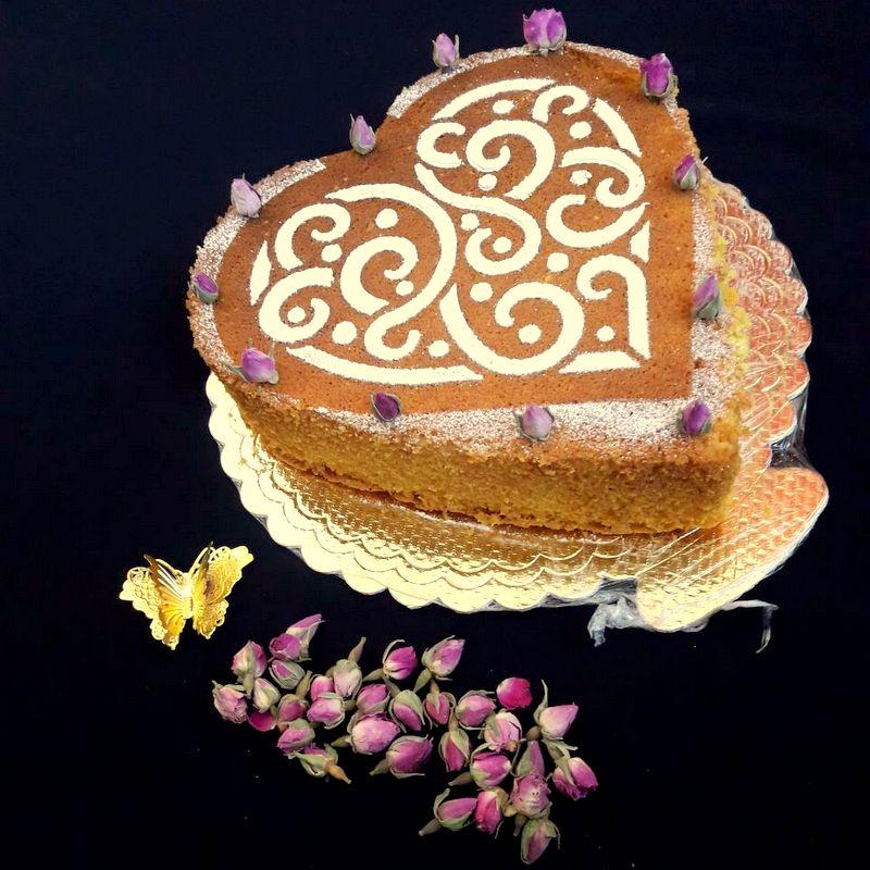 طرز پخت کیک گلاب