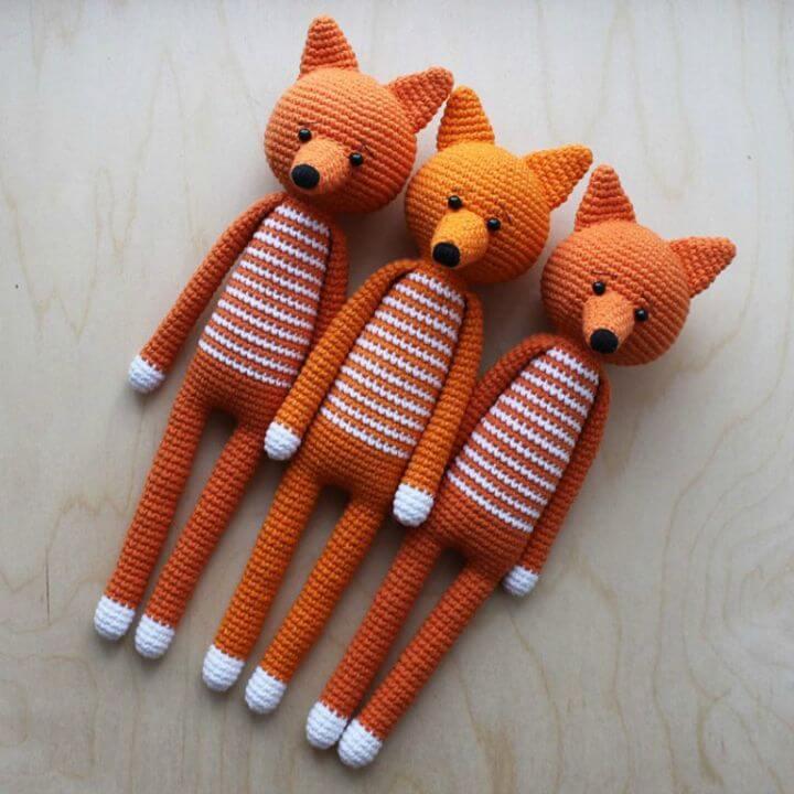 آموزش بافت عروسک روباه فانتزی