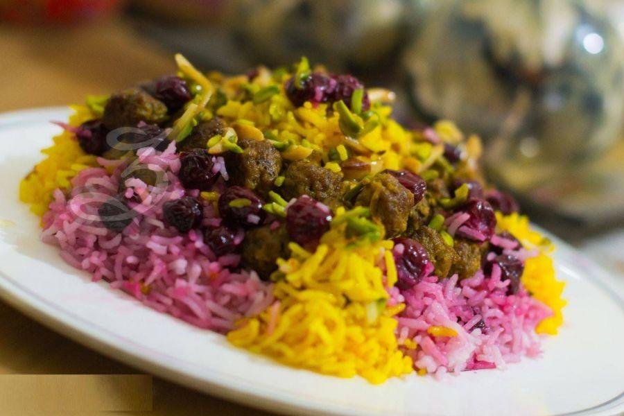 بهترین دستور پخت طرز تهیه آلبالو پلو مجلسی
