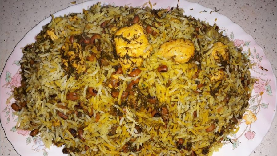 طرز تهیه سبزی پلو با مرغ و نکاتی برای طبخ آن