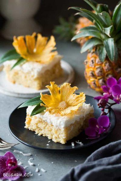 طرز تهیه کیک آناناس + آموزش خشک کردن آناناس