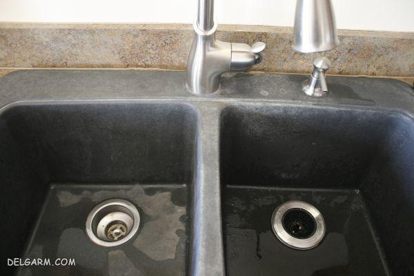 راحت ترین روش برای شستشو و تمیز کردن سینک های مشکی
