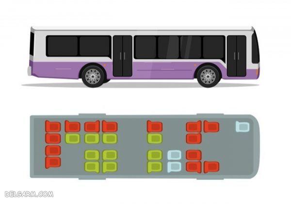 - عکس داخل اتوبوس با مسافر - عکس از داخل اتوبوس با مسافر شب - فروش صندلی اتوبوس - بهترین جا برای نشستن اتوبوس شهری
