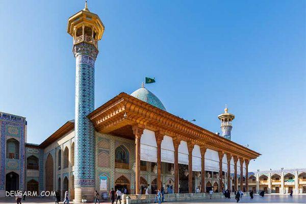 آرامگاه شاهچراغ ،آرامش کاشیهای فیروزهای در شیراز